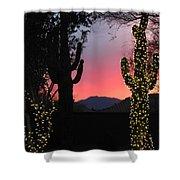Christmas In Arizona Shower Curtain