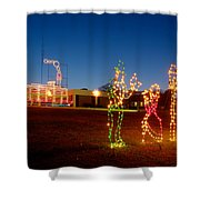 Christmas In Cayce-1 Shower Curtain