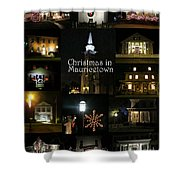 Christmas In Mauricetown  Shower Curtain