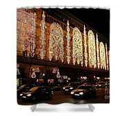 Christmas In Paris - Gallery Lights Shower Curtain
