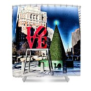 Christmas In Philadelphia Shower Curtain by Bill Cannon