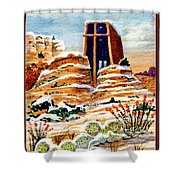 Christmas In Sedona Shower Curtain