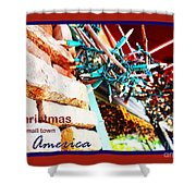 Christmas In Small Town America Shower Curtain
