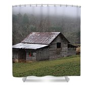 Christmas In The Mountains Shower Curtain