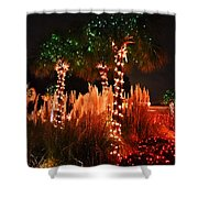 Christmas In The Sand Shower Curtain