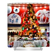 Christmas In The Train Station Shower Curtain