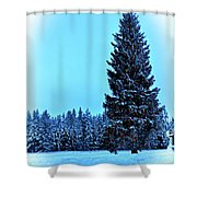 Christmas In The Valley Shower Curtain