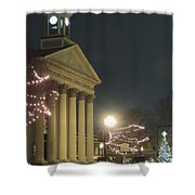 Christmas In Uptown Lexington 1 Shower Curtain