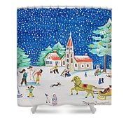 Christmas Joy Shower Curtain
