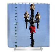 Christmas Lamp Post Grn 2013 Shower Curtain