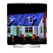 Christmas Lighthouse Shower Curtain