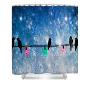 Christmas Lights Shower Curtain by Bob Orsillo