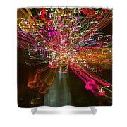 Exploding   Lights  Shower Curtain