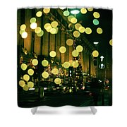 Christmas Lights In Oxford Streeet Shower Curtain
