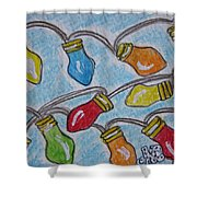 Christmas Lights Shower Curtain