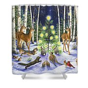 Christmas Magic Shower Curtain by Lynn Bywaters