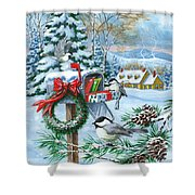 Christmas Mail Shower Curtain