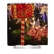 Christmas Mailbox Shower Curtain