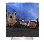christmas market in Banska Bystrica Shower Curtain
