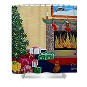 Christmas Memories Shower Curtain