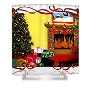 Christmas - Memories - Ribbons - Bows Shower Curtain