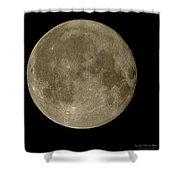 Christmas Moon 2012 Shower Curtain