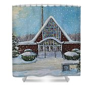 Christmas Morning At Our Lady's Church Shower Curtain