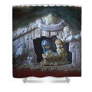 Christmas Nativity Scene Shower Curtain