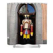 Christmas Nutcracker Soldier Shower Curtain