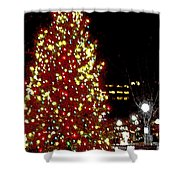 Christmas On Public Square Three Shower Curtain