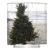 Christmas On The Beach 1 Shower Curtain