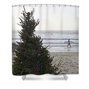 Christmas On The Beach 2 Shower Curtain