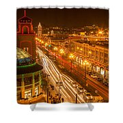 Christmas On The Plaza Shower Curtain