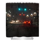 Christmas On The Streets Of Grants Pass Shower Curtain