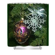 Christmas Ornaments 2 Shower Curtain