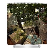 Christmas Packages Shower Curtain