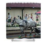 Christmas Parade Shower Curtain