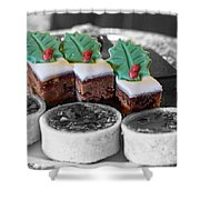 Christmas Pastries Shower Curtain