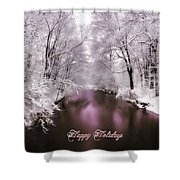 Christmas Pond Shower Curtain