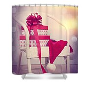 Christmas Presents Shower Curtain by Amanda Elwell
