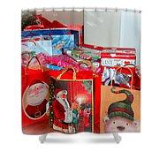 Christmas Presents Shower Curtain
