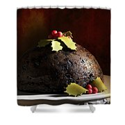 Christmas Pudding Shower Curtain