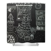 Christmas Scene Shower Curtain