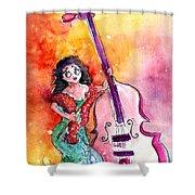 Christmas Sea Bass Shower Curtain