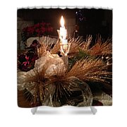 Christmas Shining Light Shower Curtain