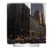 Christmas Shopping On The World Famous Fifth Avenue Shower Curtain