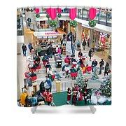 Christmas Shopping Shower Curtain