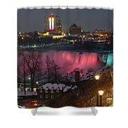 Christmas Spirit At Niagara Falls Shower Curtain