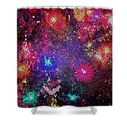 Christmas Stained Glass  Shower Curtain
