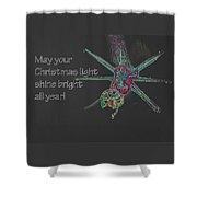 Christmas Star Light 26762 Ge Shower Curtain